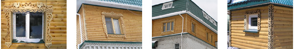 деревянный дом в Хабаровске, Владивостоке и Москве.