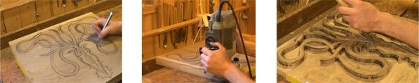 Изготовление резного панно из дерева