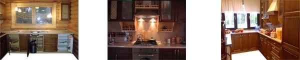Кухонная мебель из массива дерева в Хабаровске, Владивостоке и Москве.
