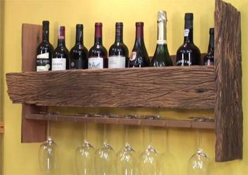 Полки для вина своими руками из дерева