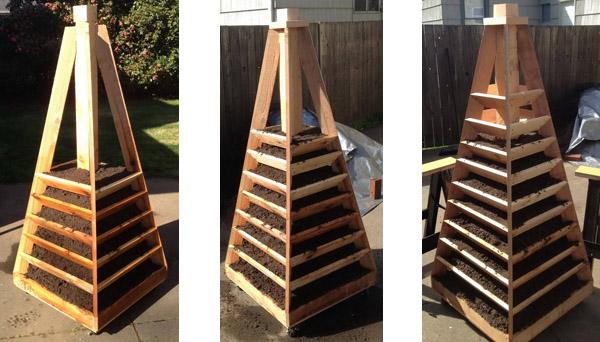 Как изготовить вертикальную грядку из дерева