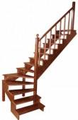 Лестница с забежными ступенями L1